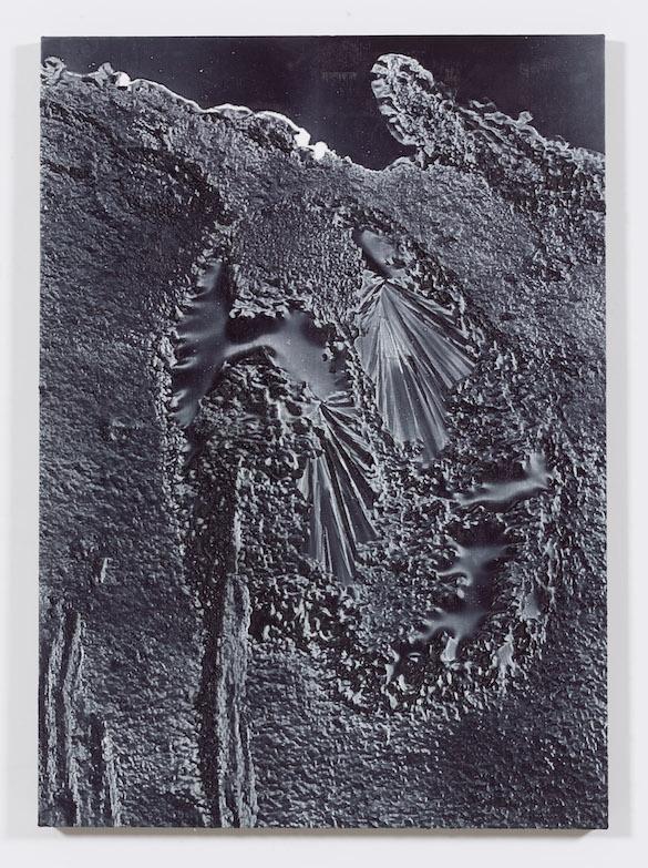 Daniel Lefcourt, Anti-Scan (for Colonel Aimé Laussedat), 2015. Pigment and urethane on canvas, 142.2 × 101.6 cm. Courtesy Daniel Lefcourt ; Campoli Presti, London / Paris.